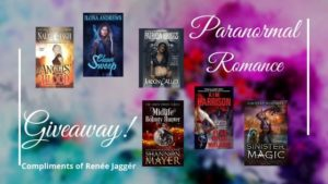 Paranormal Romance giveaway banner